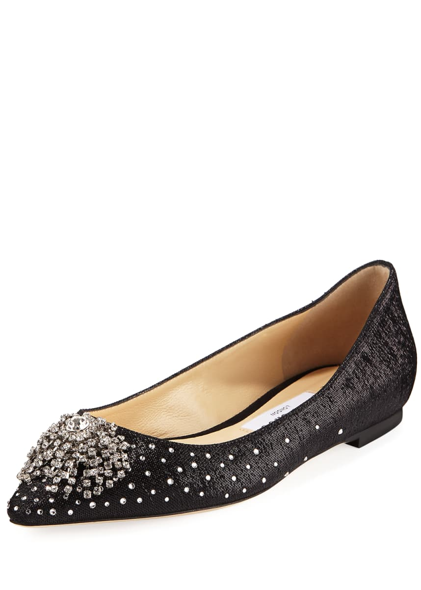 Jimmy Choo JOAN FLAT FHG WITH FIREWORK