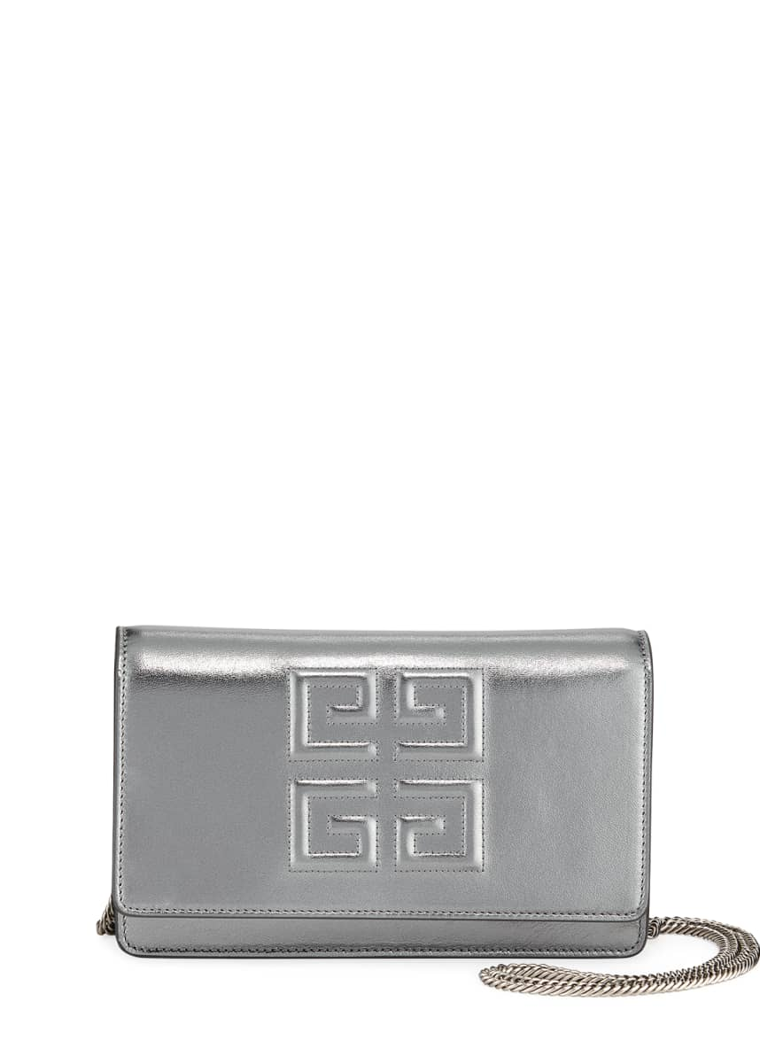 Givenchy Emblem Leather Wallet On Chain