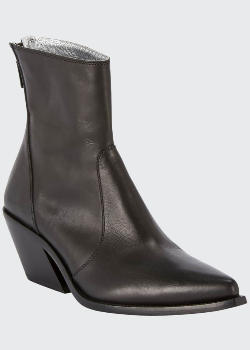 Givenchy Bicolor Leather Cowboy Booties