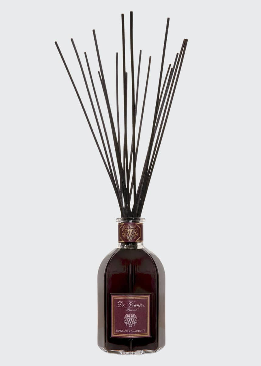 Dr. Vranjes Firenze Rosso Nobile Vase Glass Bottle Collection Fragrance, 8.5 oz./ 2500 mL