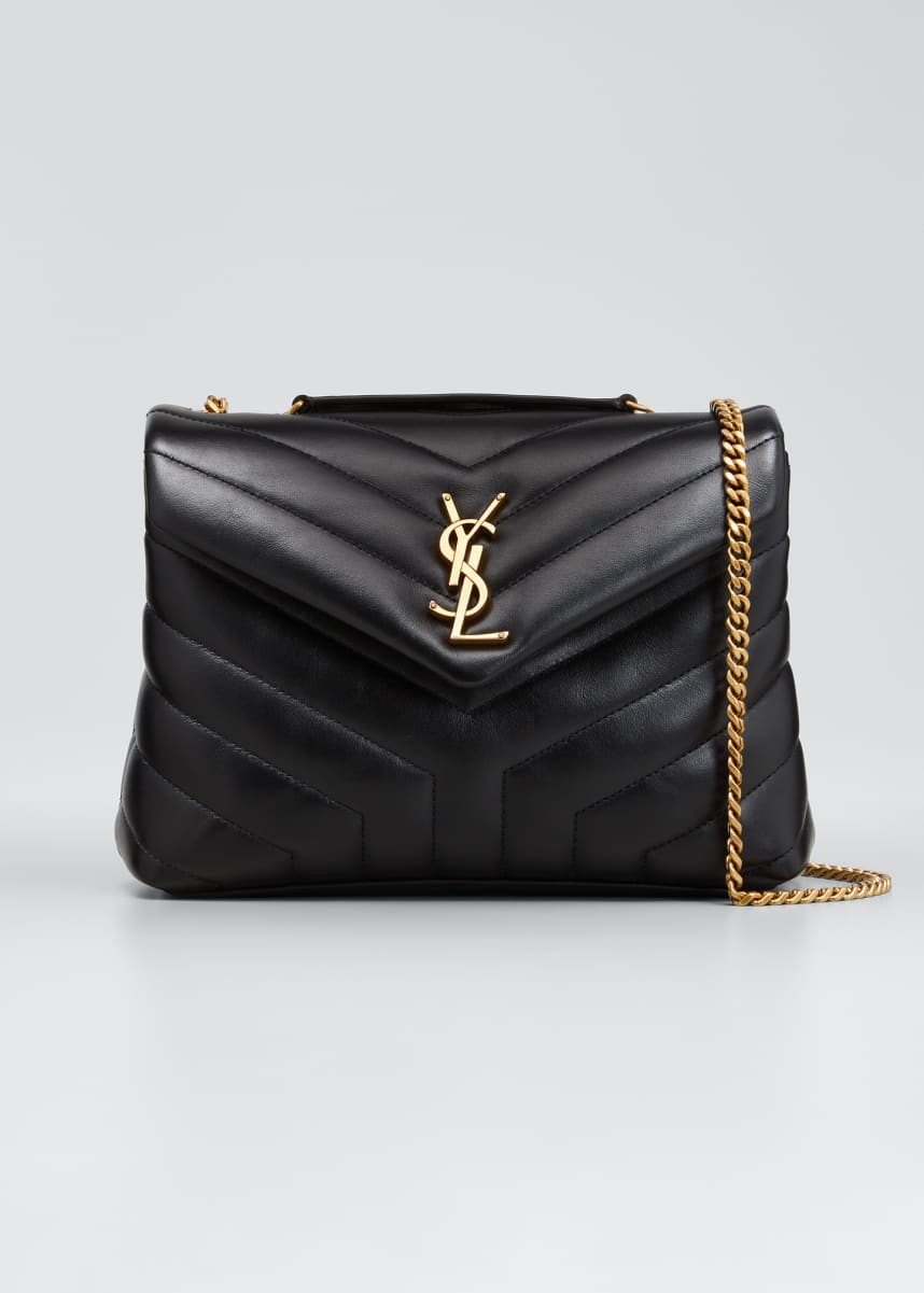 Saint Laurent Loulou Small Matelasse Calfskin Flap-Top Shoulder Bag