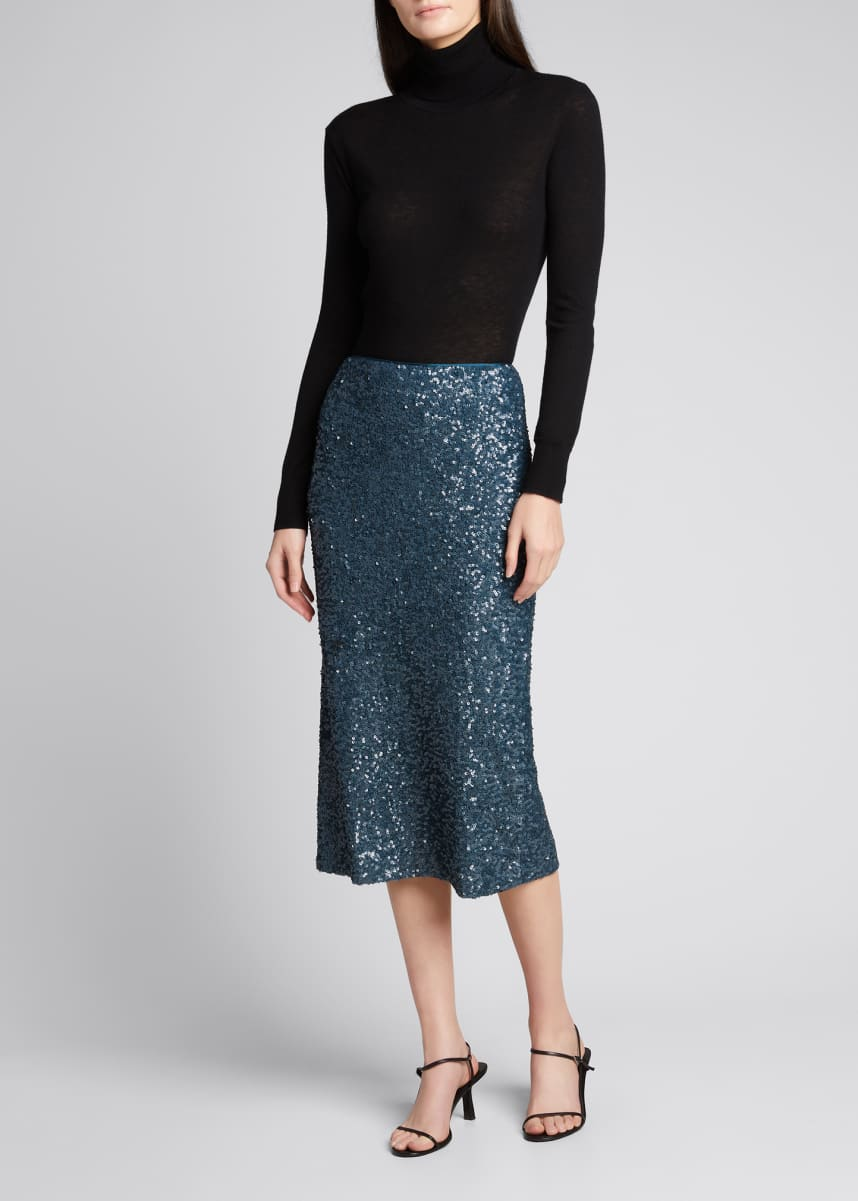 Lafayette 148 New York Casey Shimmering Sequin Pencil Skirt