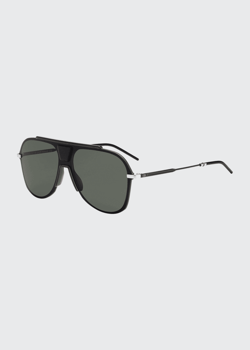 Dior Men's Fraction 5 Round Pilot Sunglasses
