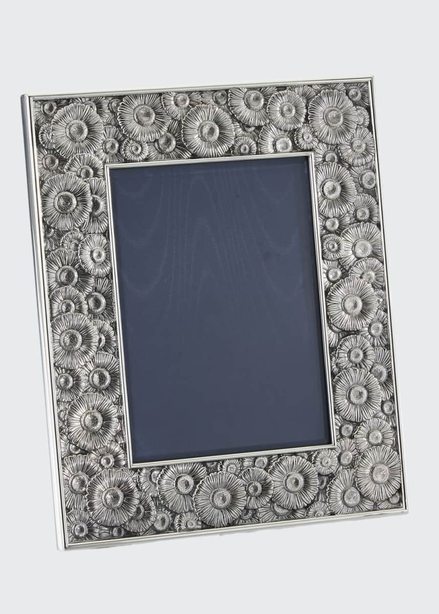 "Buccellati Daisy Silver & Leather Picture Frame, 5"" x 7"""