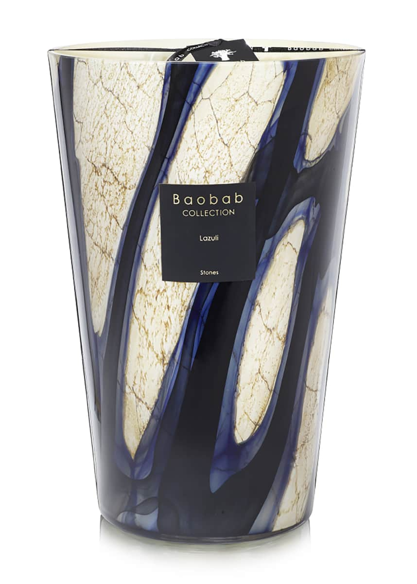 Baobab Collection Stones Lazuli Candle, 14""