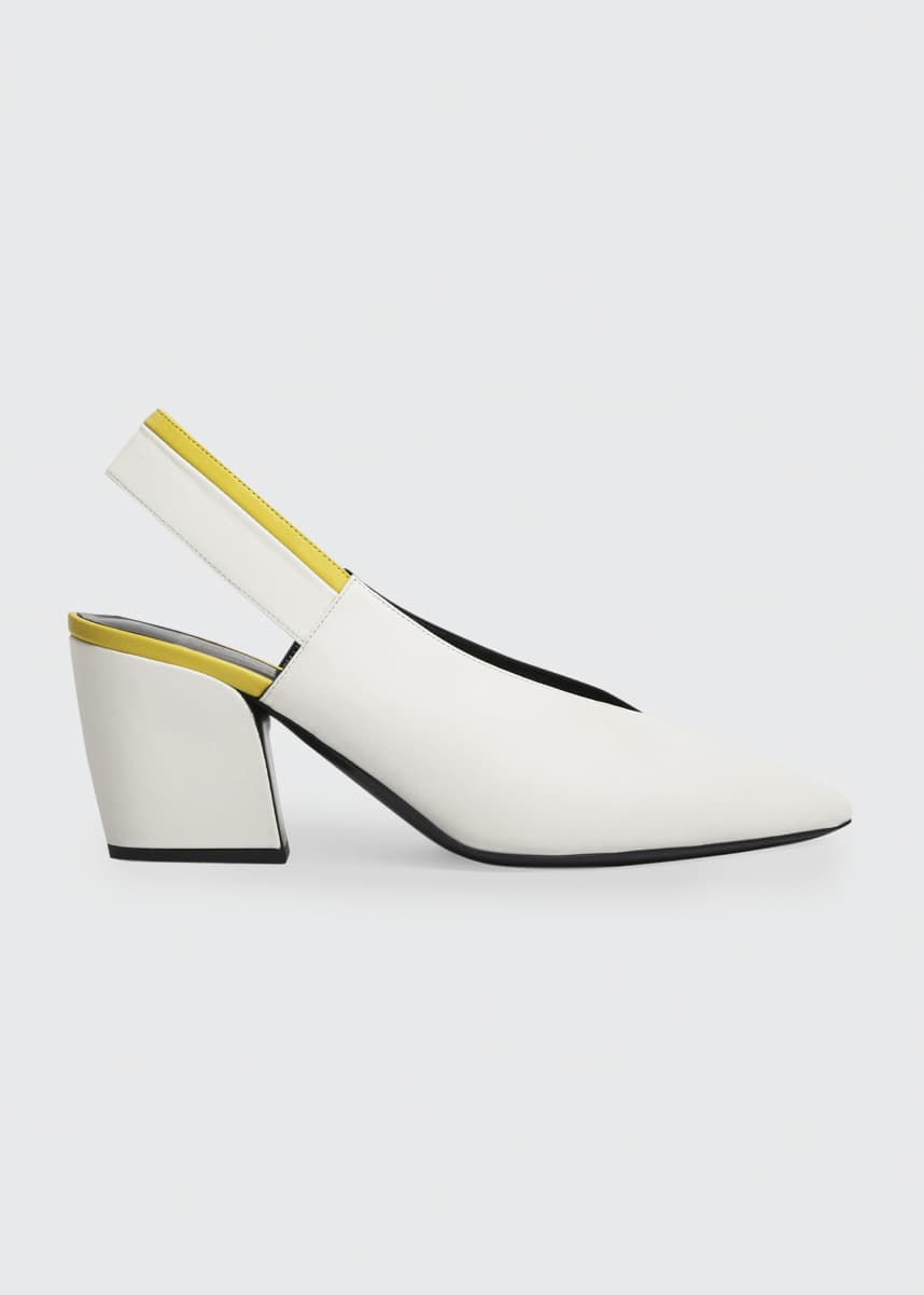 Pierre Hardy Alpha Two-Tone Leather Pumps