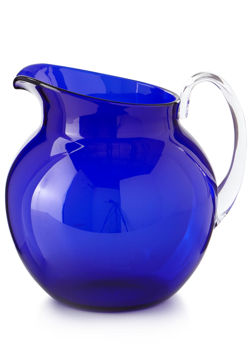 Mario Luca Giusti Palla Transparent Acrylic Pitcher, Blue