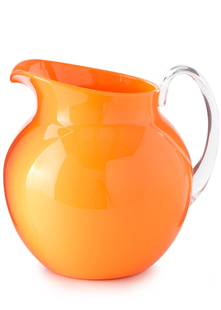 Mario Luca Giusti Palla Fluorescent Acrylic Pitcher, Orange