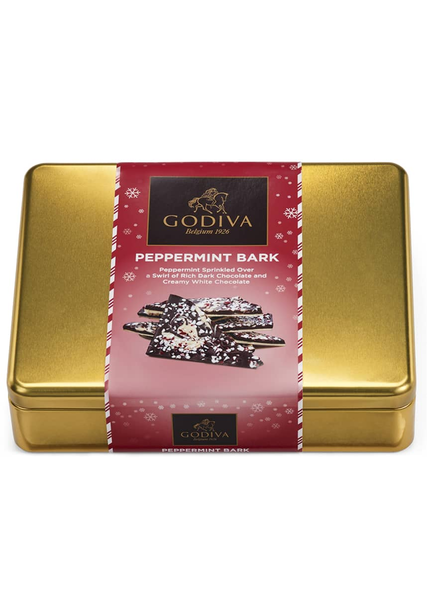 Godiva Chocolatier Peppermint Bark Tin