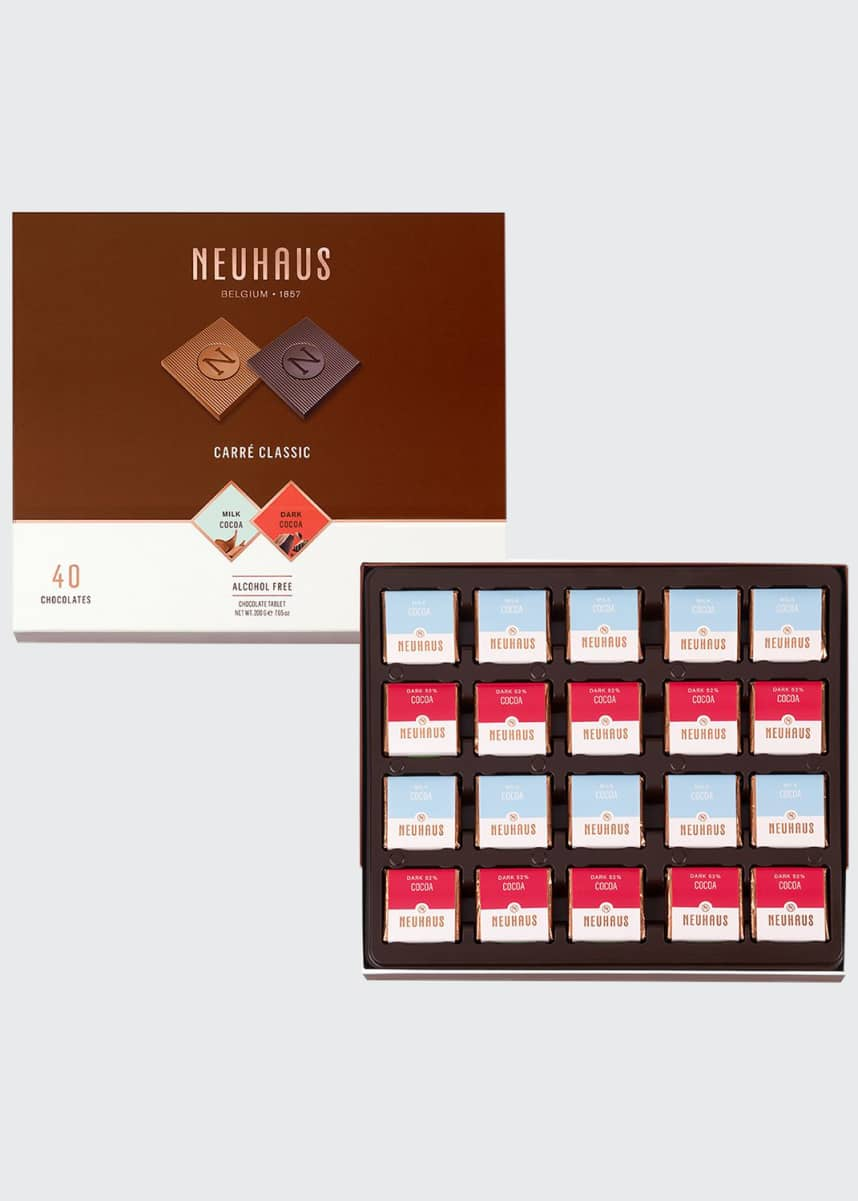 Neuhaus Chocolate 40-Piece Classic Milk & Dark Chocolate Box