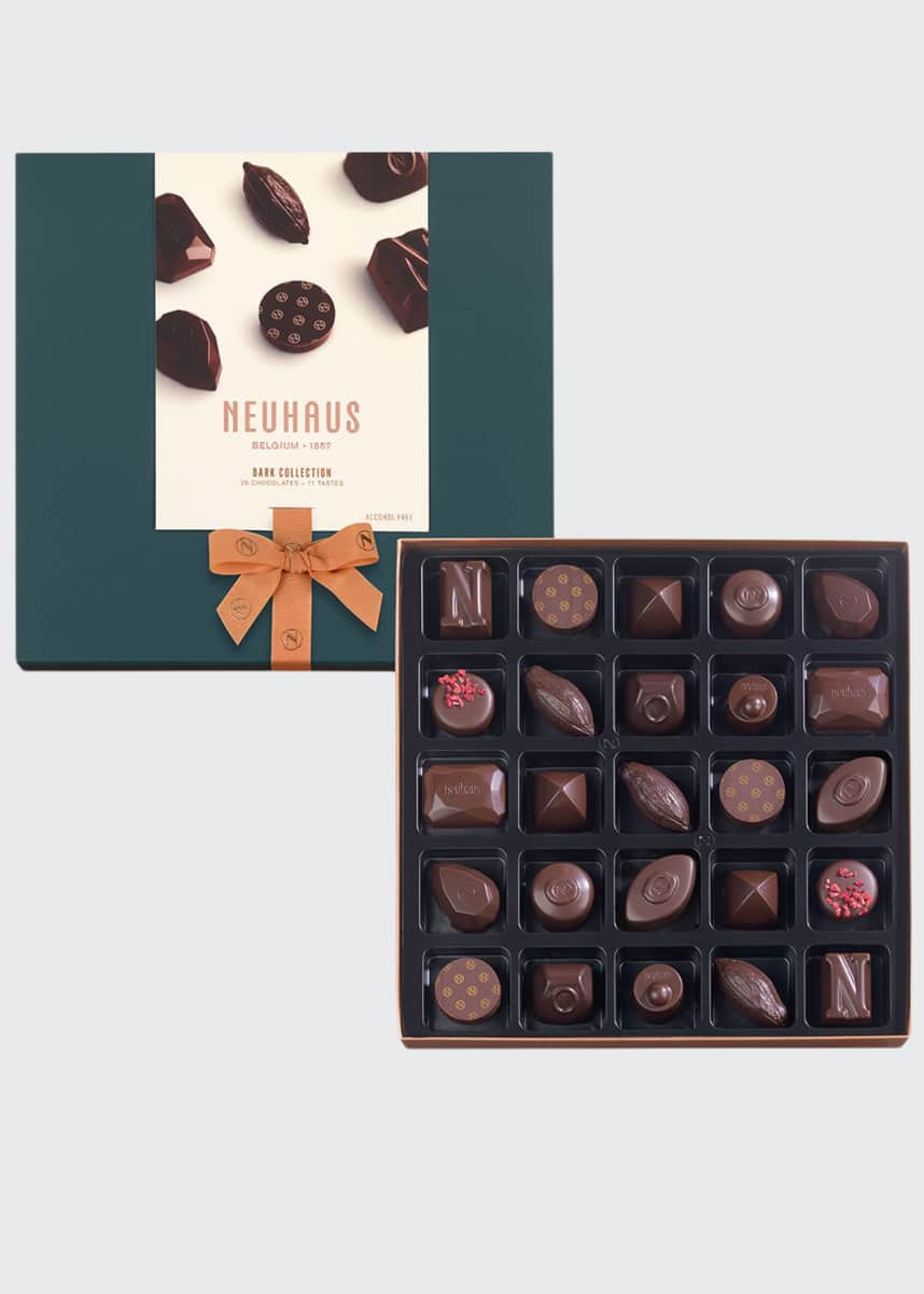 Neuhaus Chocolate 25-Piece Dark Chocolate Collection