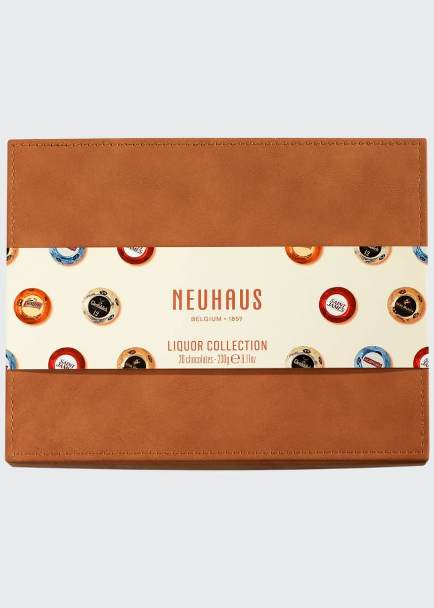Neuhaus Chocolate 20-Piece Leather Liquor Box