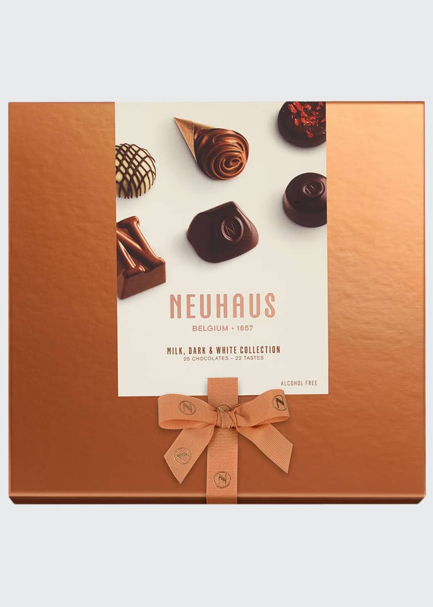 Neuhaus Chocolate 25-Piece Milk, Dark & White Discovery Collection