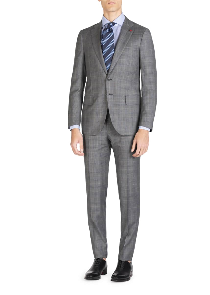 Isaia Men's Plaid Super 140s Two-Piece Suit