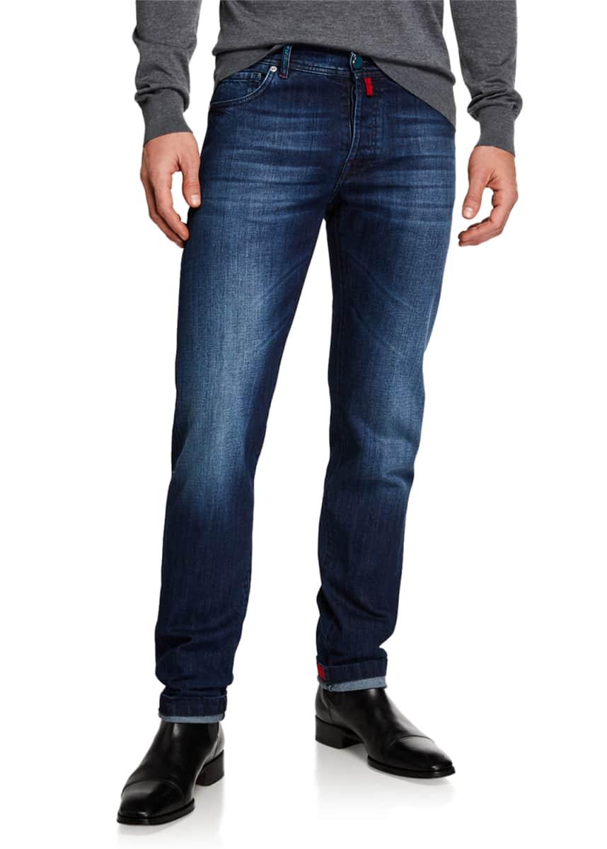 Blue 36 Hudson Jeans Mens Blake Glacier Blue Slim Straight Leg