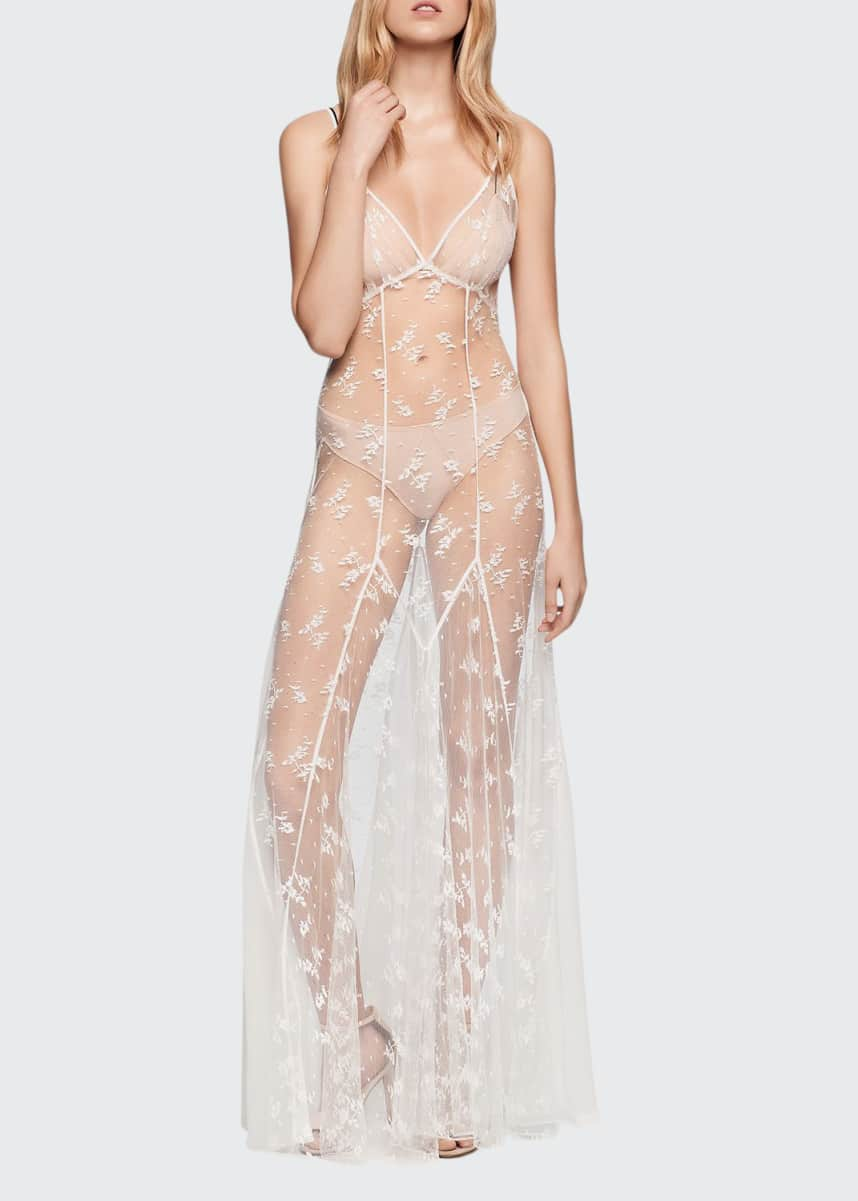 Kiki De Montparnasse Allover Lace Nightgown