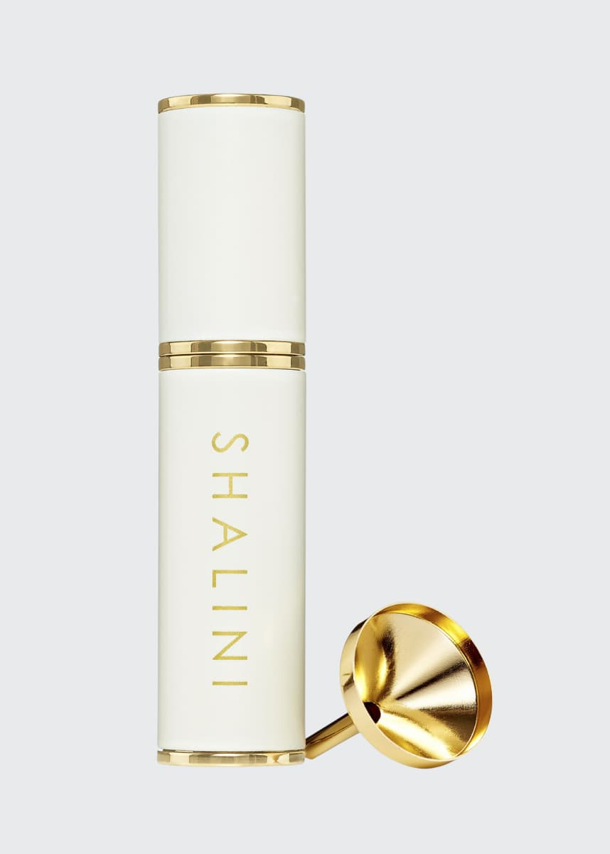 Shalini Parfum Amorem Rose White Lacquer and Gold Plated Travel Spray, 0.4 oz./ 12.5 mL