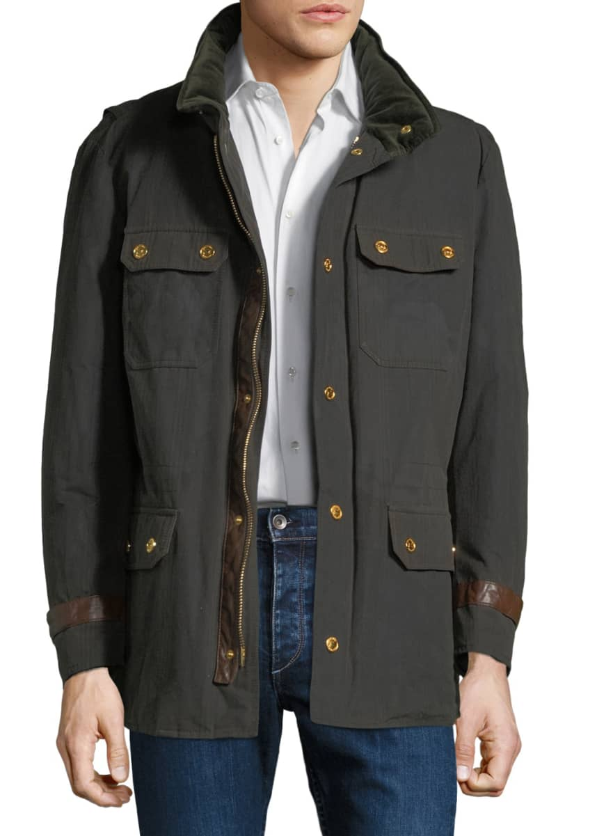 Stefano Ricci Men's Waxed Cotton Gilet Jacket