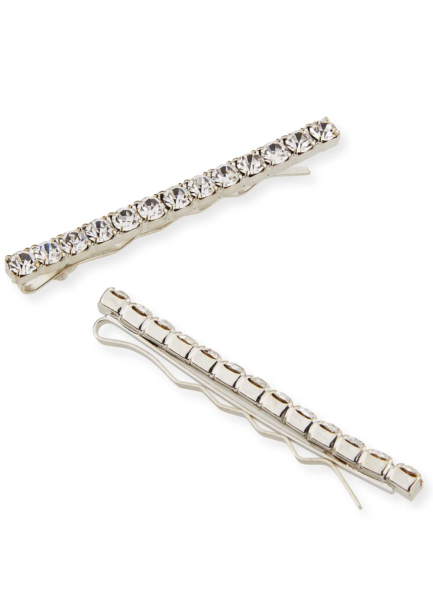 Jennifer Behr Gwen Crystal Bobby Pins, Set of 2