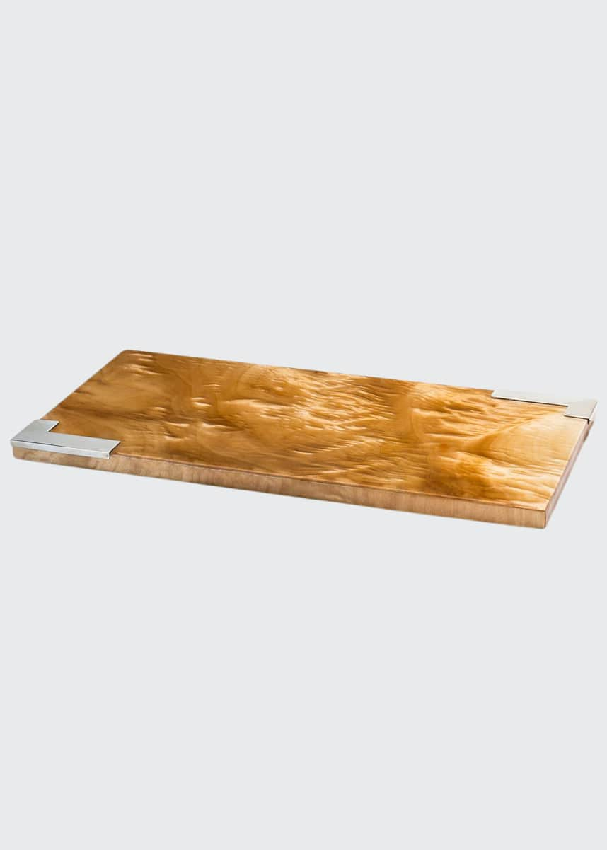 LADORADA Burl Veneer Small Serving Board