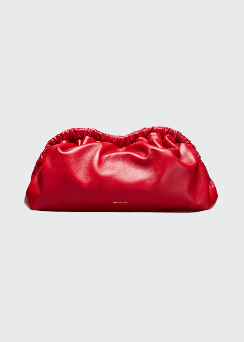 Mansur Gavriel Soft Ruffled Clutch Bag