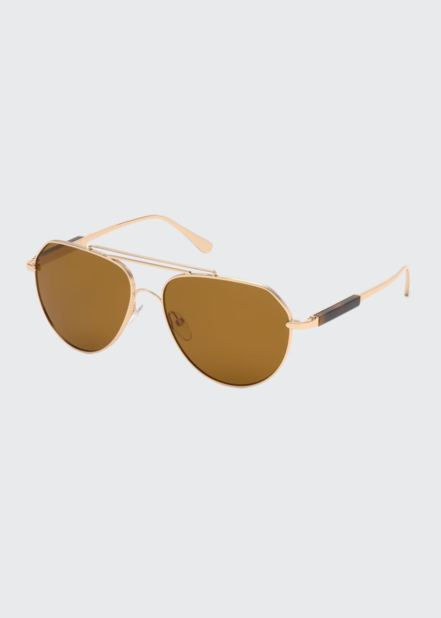 TOM FORD Men's Andes Metal Aviator Sunglasses