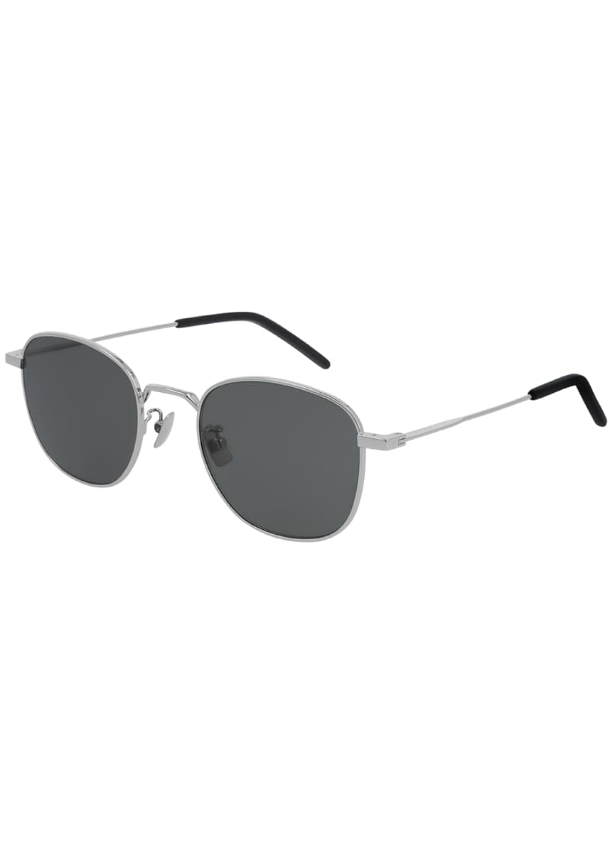 Saint Laurent Round Metal Sunglasses