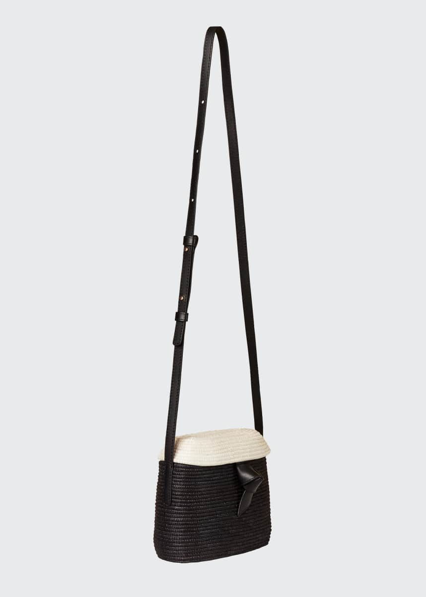Cesta Collective Two-Tone Jute Crossbody Bag