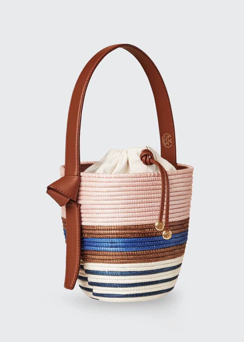 Cesta Collective Multi-Stripe Half Breton Bucket Bag