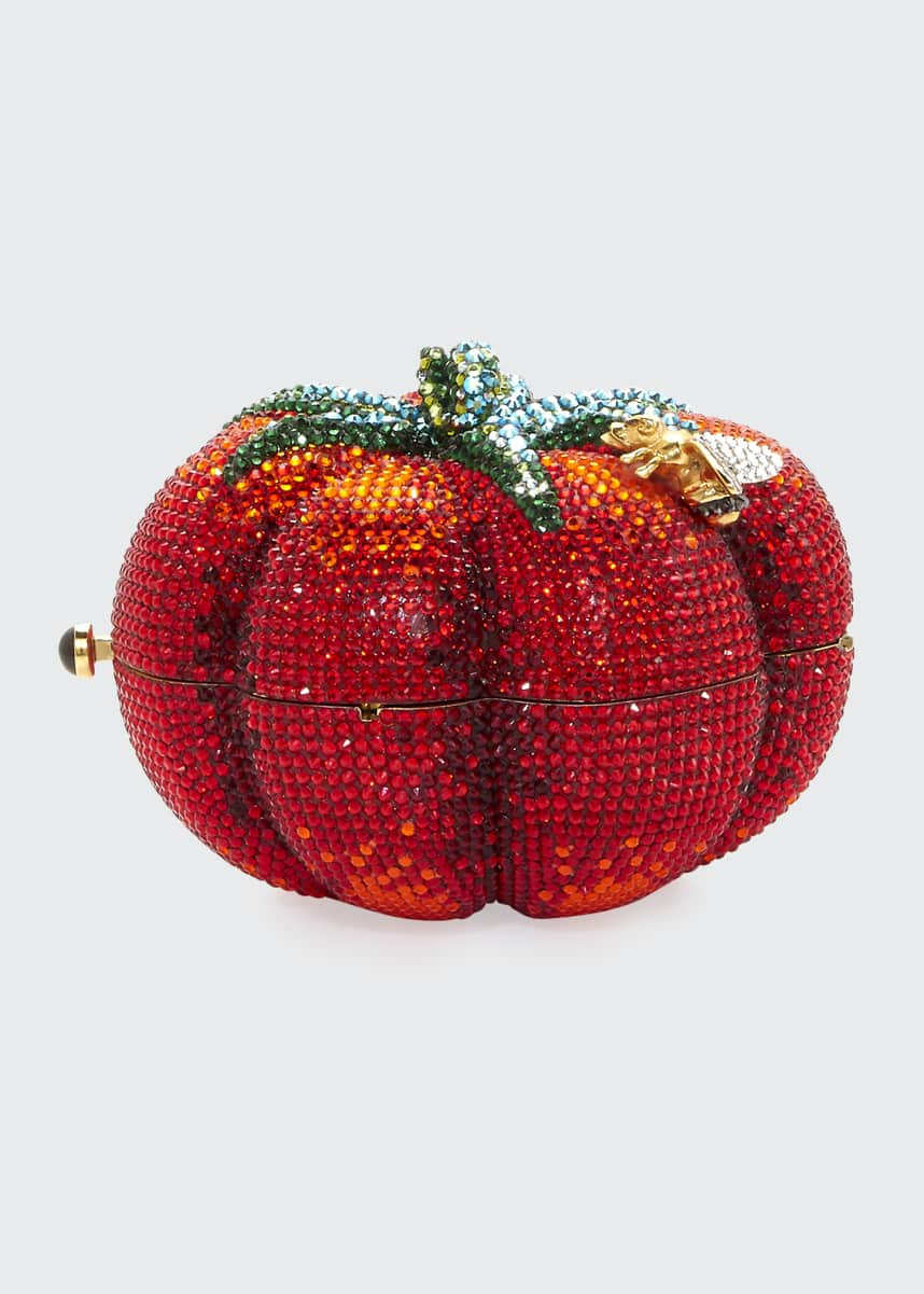 Judith Leiber Couture Tomato Heirloom Crystal Clutch Bag