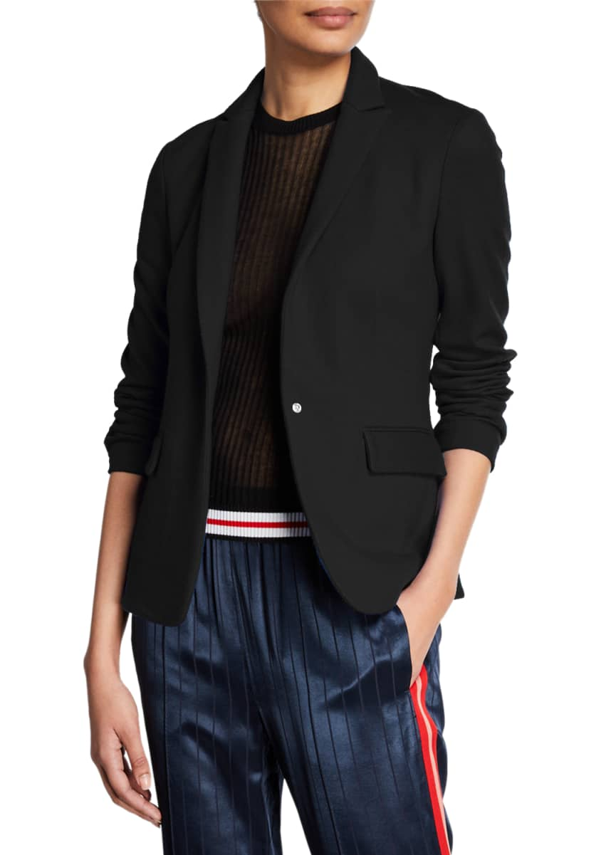 Rag & Bone Lexington Snap-Front Wool Blazer