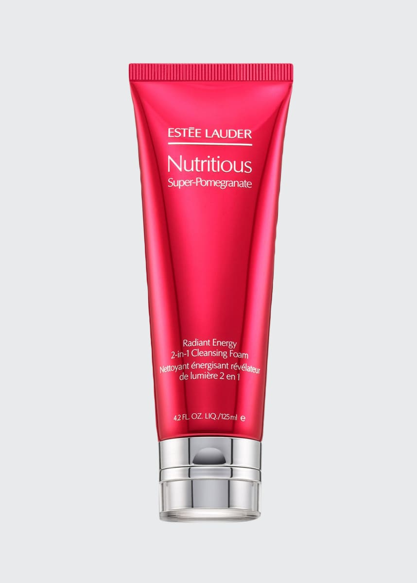 Estee Lauder Nutritious Super-Pomegranate Radiant Energy 2-in-1 Cleansing Foam, 4.2 oz./ 125 mL