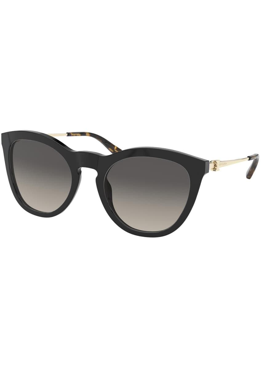 Tory Burch Cat-Eye Gradient Acetate & Metal Sunglasses