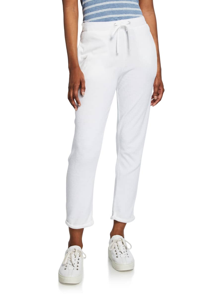 Majestic Cotton Terry Straight-Leg Pants