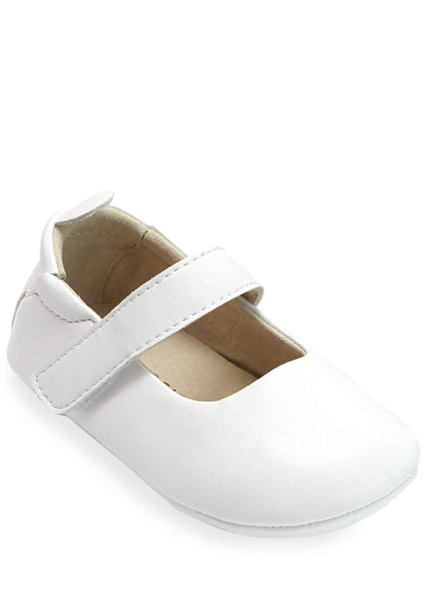 L'Amour Shoes Charlotte Leather Mary Jane Crib Shoes, Baby