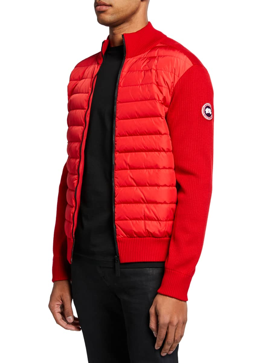 Canada Goose Men's Hybridge Knit-Sleeve Puffer Jacket