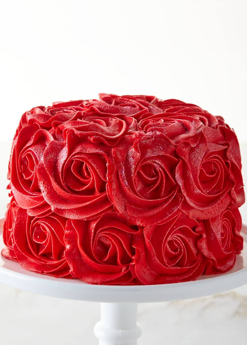 We Take The Cake Red Velvet Rose Cake, For 8-10 People