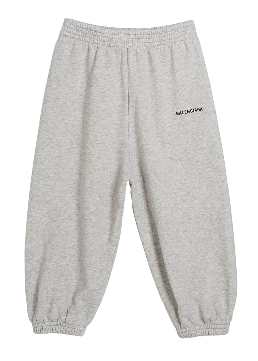 Balenciaga Cotton Logo Jogging Pants, Size 2-10