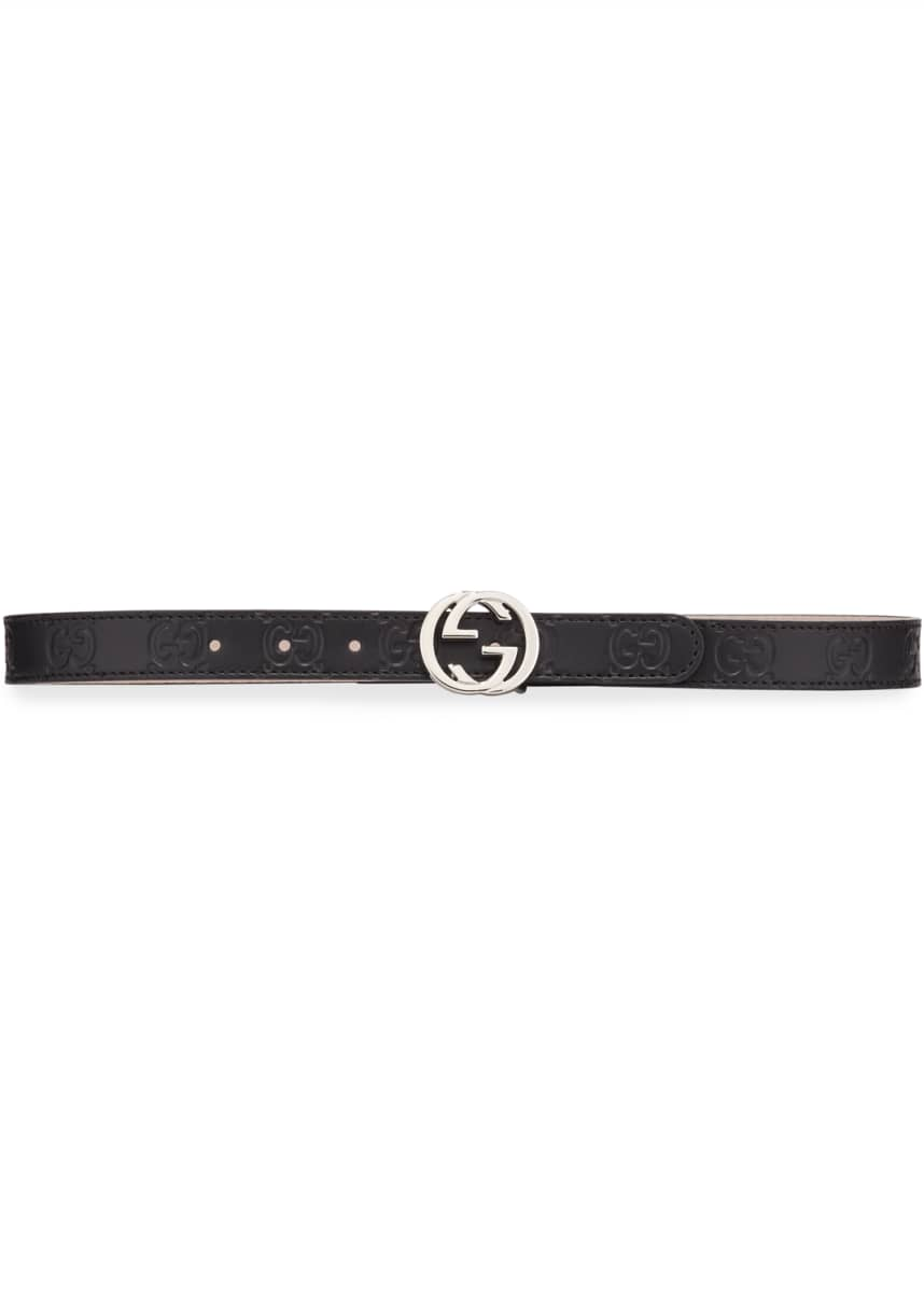 Gucci Kids' Signature Gucci Leather Belt