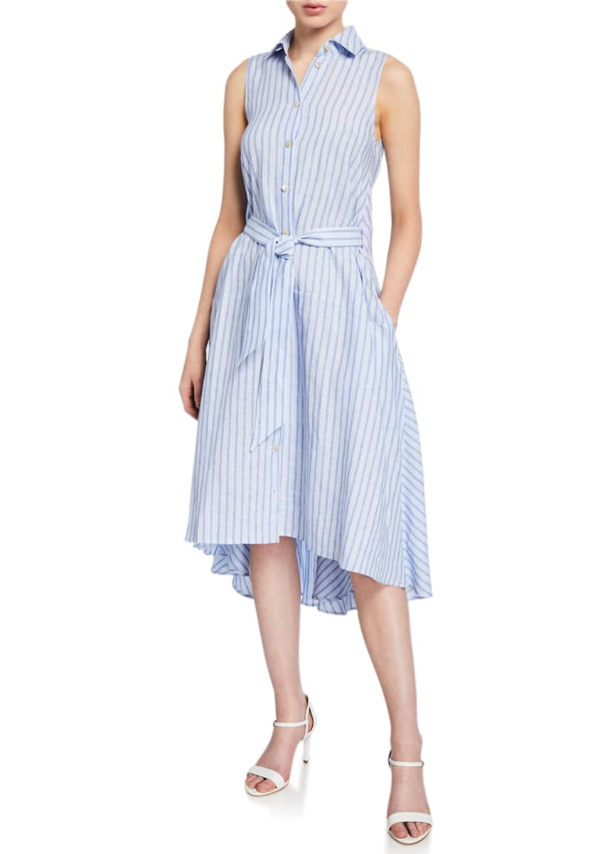palmer//harding Sedona Striped Linen Button-Front Dress
