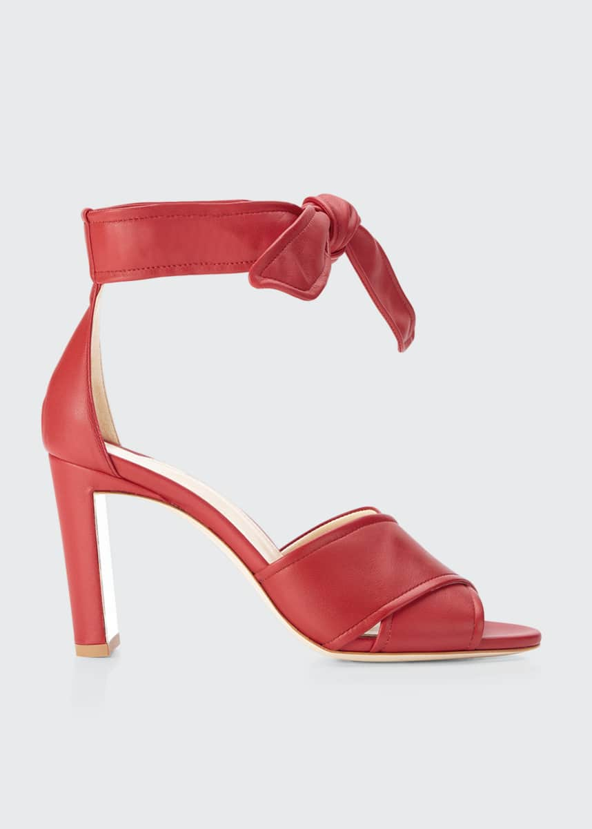 Marion Parke Leah Leather Ankle-Tie Sandals