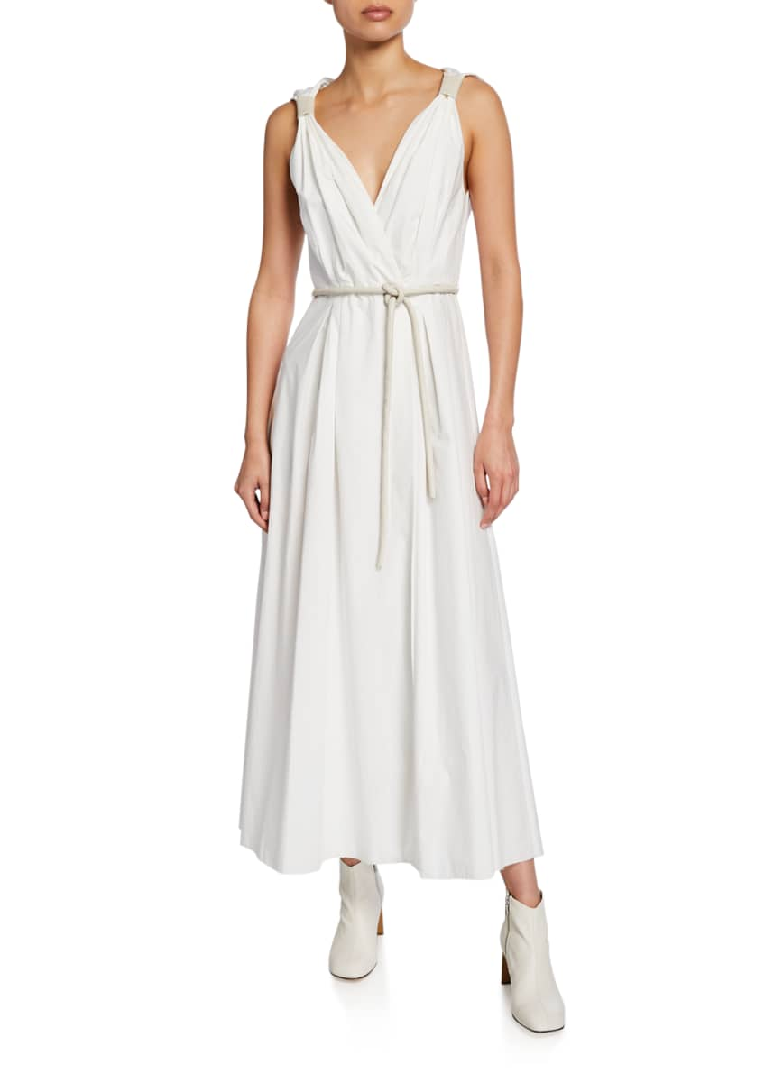 Nanushka Lilith Sleeveless Poplin Maxi Dress