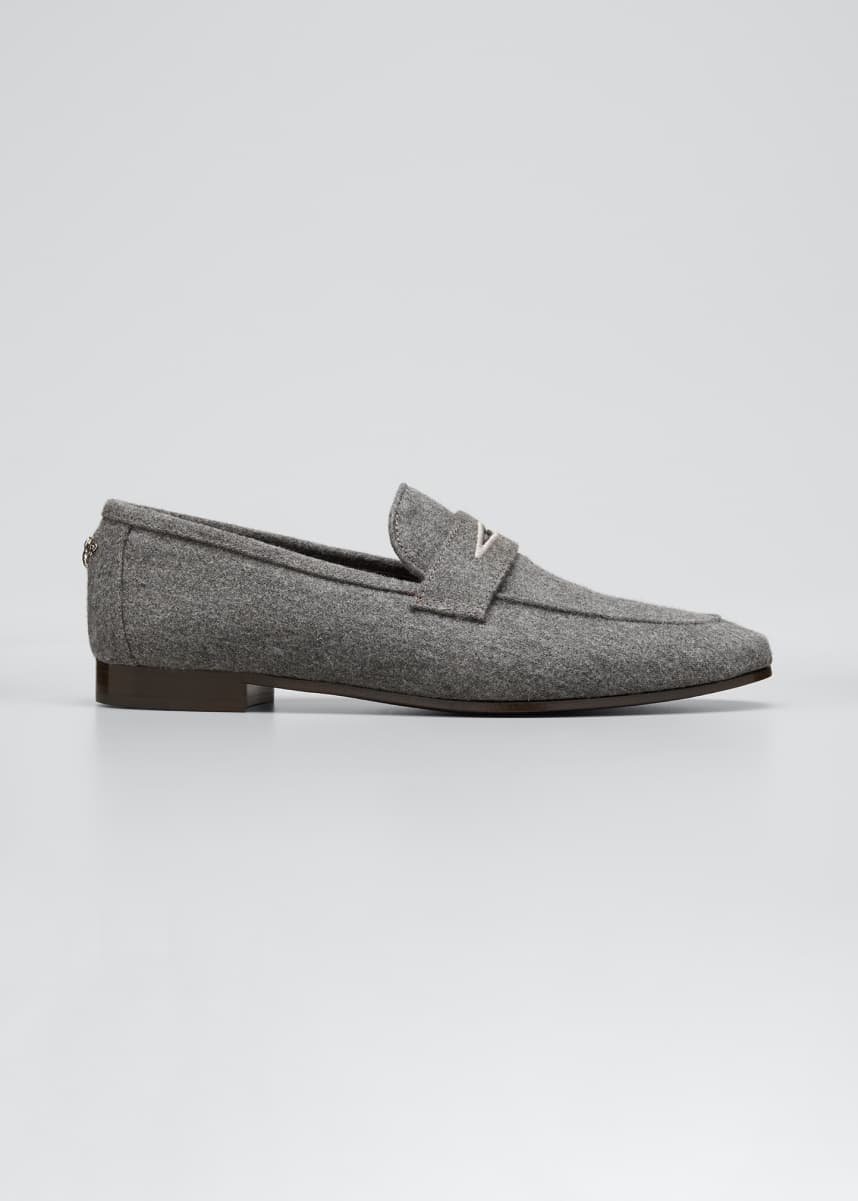 Bougeotte Aspen Flannel Flaneur Loafers