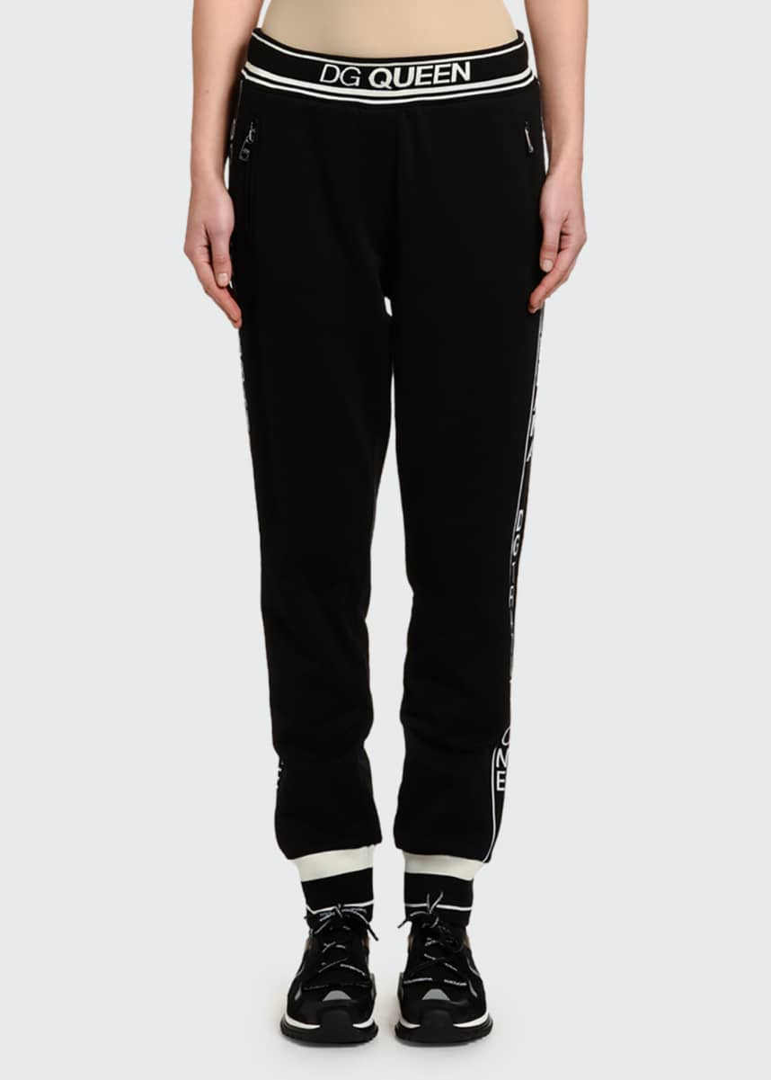 Dolce & Gabbana Logo Banded Pull-On Jersey Pants