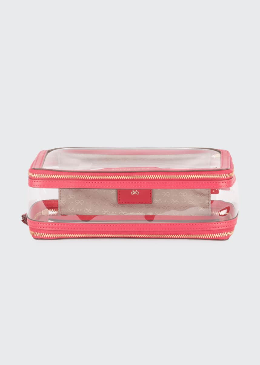 Anya Hindmarch Inflight See-Through Cosmetics Bag, Pink