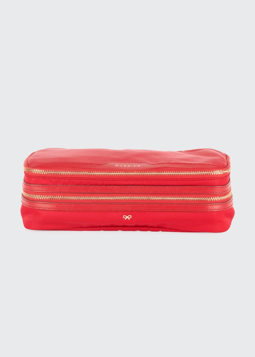 Anya Hindmarch Make-Up Cosmetics Bag, Red
