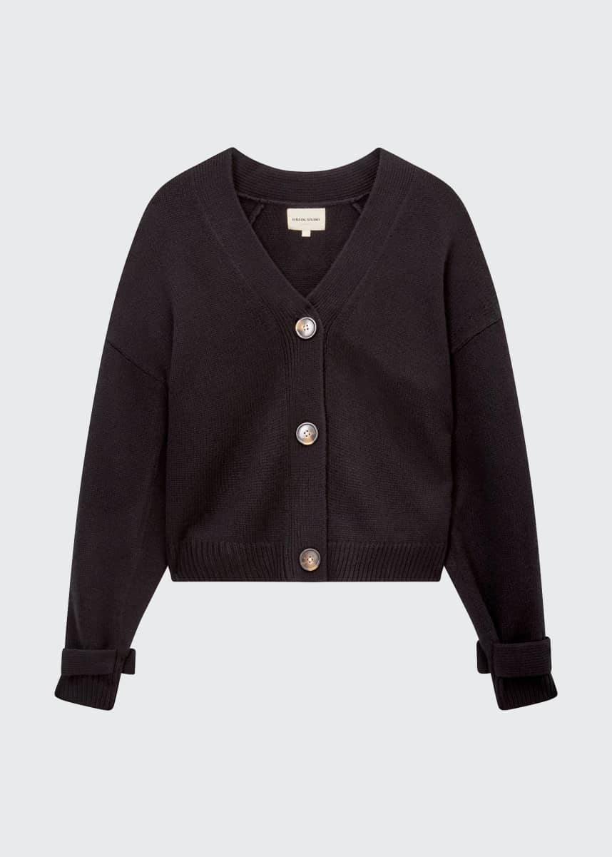 Loulou Studio Wool-Cashmere Cropped Cardigan