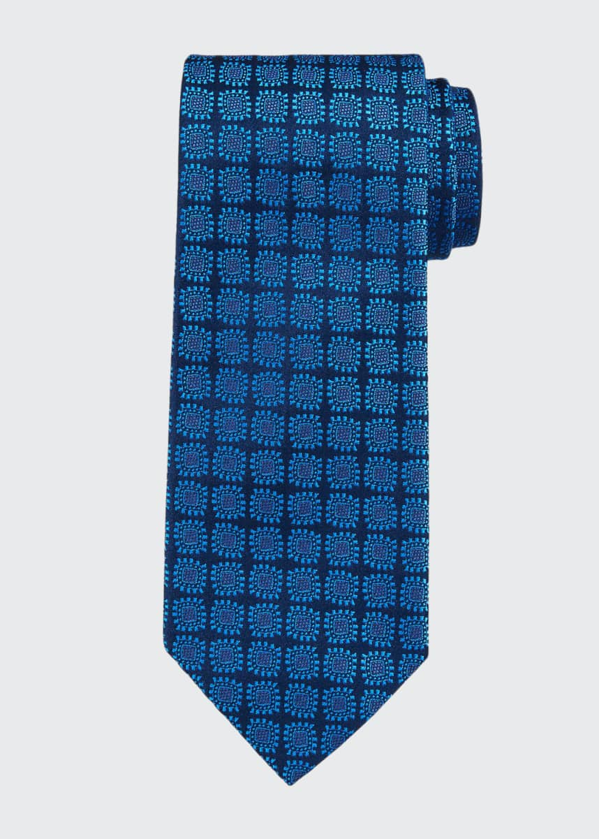 Charvet Men's Large Neat Silk Tie