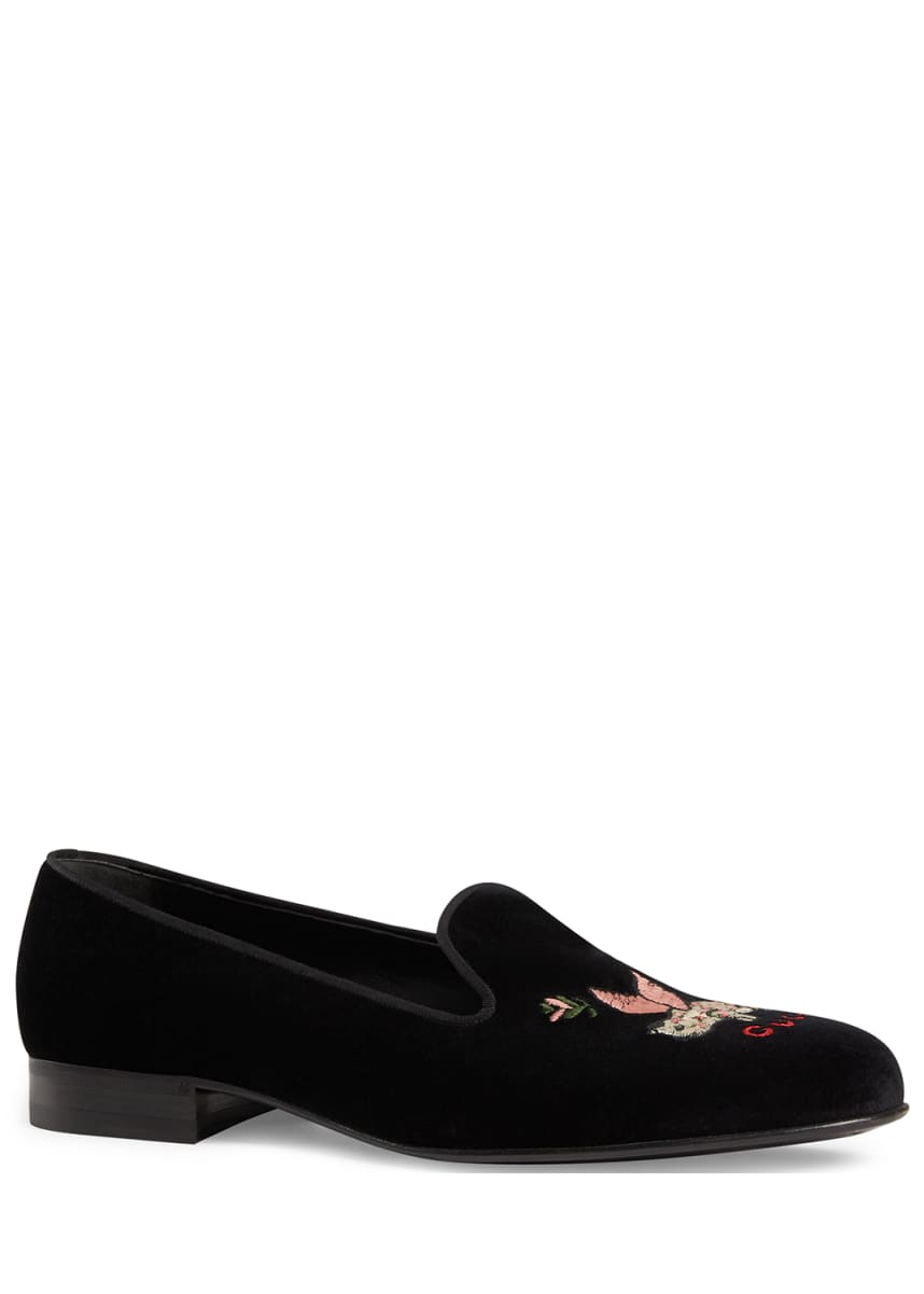 Gucci Men's Glauco Pig Velvet Slippers