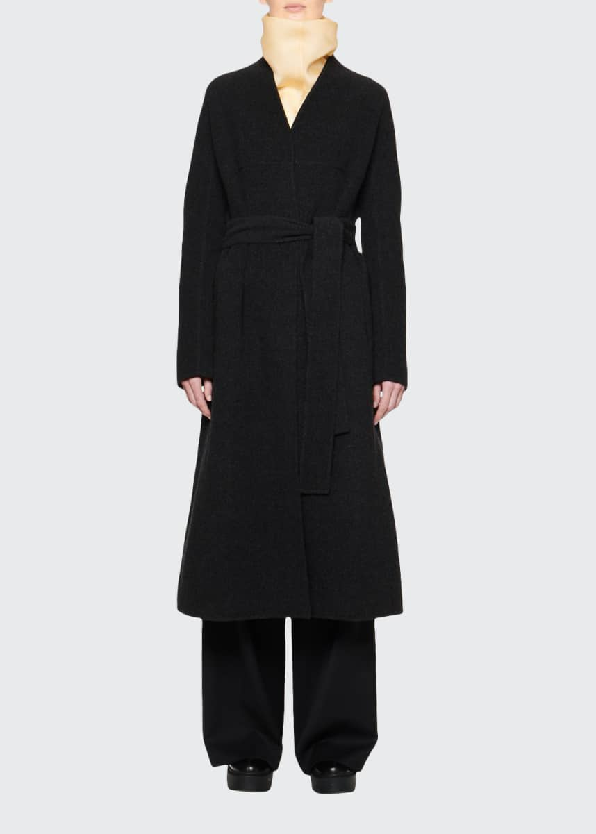 THE ROW Luisa Wool Wrap Coat